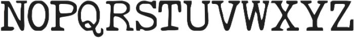 RemingtonWeather Regular otf (400) Font UPPERCASE