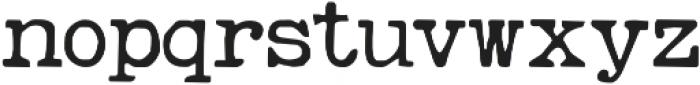 RemingtonWeather Regular otf (400) Font LOWERCASE