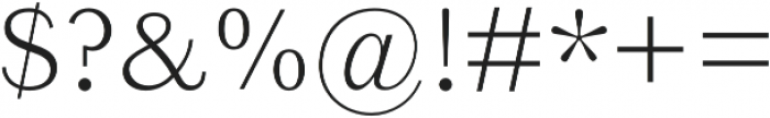 Reminisce Light otf (300) Font OTHER CHARS