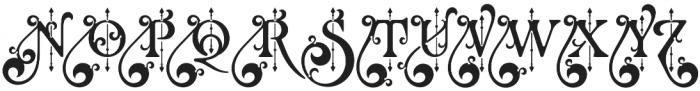 Renaissance Garden Regular 1 otf (400) Font UPPERCASE