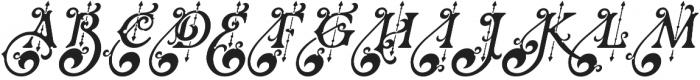 Renaissance Garden otf (400) Font UPPERCASE
