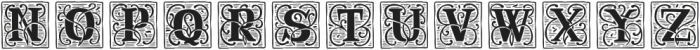 RenaissanceInitial Line White otf (400) Font LOWERCASE