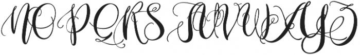 Resemharey otf (400) Font UPPERCASE