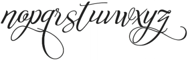 Reshuffle Alternate otf (400) Font LOWERCASE