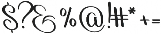 Reshuffle Slant otf (400) Font OTHER CHARS