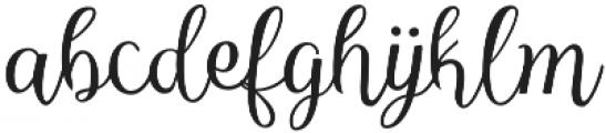 Reshuffle Slant otf (400) Font LOWERCASE