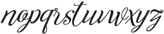 Reshuffle  otf (400) Font LOWERCASE