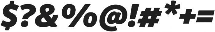 Respublika FY Black Italic ttf (900) Font OTHER CHARS