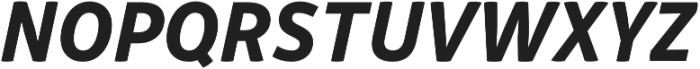 Respublika FY XBold Italic otf (700) Font UPPERCASE