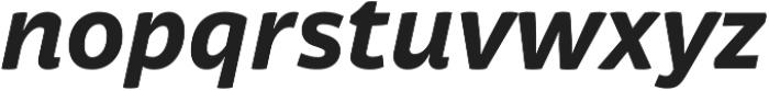 Respublika FY XBold Italic otf (700) Font LOWERCASE