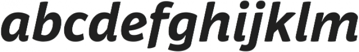 Respublika FY XBold Italic ttf (700) Font LOWERCASE