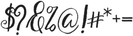 Restful Script Regular otf (400) Font OTHER CHARS