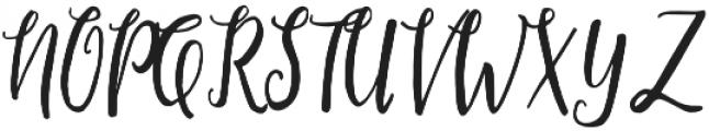 Restful Script Regular otf (400) Font UPPERCASE