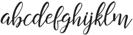 Restful Script Regular otf (400) Font LOWERCASE