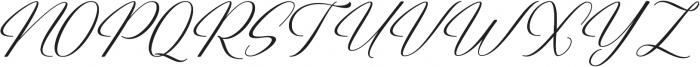 Restiany Regular ttf (400) Font UPPERCASE