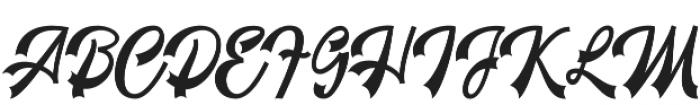 Restyla Script Regular otf (400) Font UPPERCASE