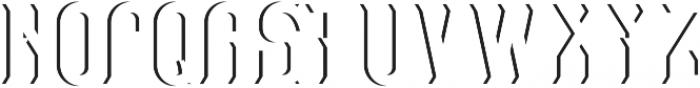 Retro Alphabet Shadow otf (400) Font UPPERCASE