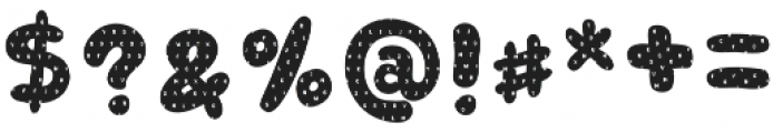 Retrofield Textured otf (400) Font OTHER CHARS