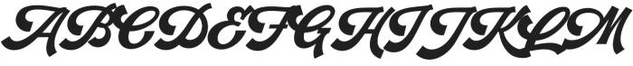 Retrofunk Script Pro Regular otf (400) Font UPPERCASE