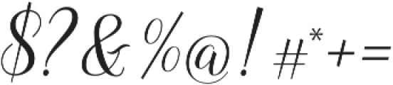 Revallyna otf (400) Font OTHER CHARS