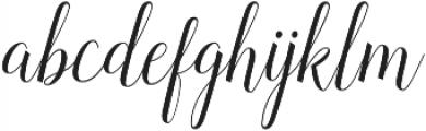 Revallyna otf (400) Font LOWERCASE