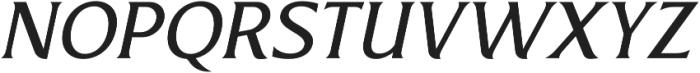 Revans Italic otf (400) Font UPPERCASE