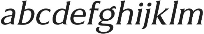 Revans Italic otf (400) Font LOWERCASE