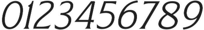 Revans Light Italic otf (300) Font OTHER CHARS