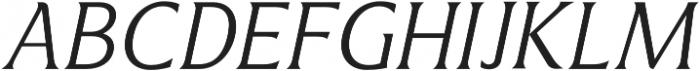Revans Light Italic otf (300) Font UPPERCASE