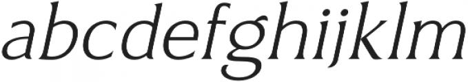 Revans Light Italic otf (300) Font LOWERCASE