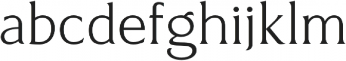Revans Light otf (300) Font LOWERCASE