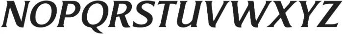 Revans Medium Italic otf (500) Font UPPERCASE