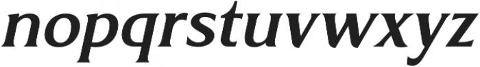 Revans Medium Italic otf (500) Font LOWERCASE