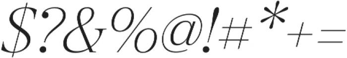 Revista Thin Italic otf (100) Font OTHER CHARS