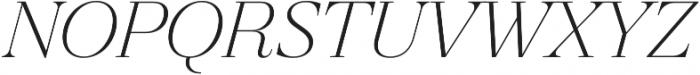Revista Thin Italic otf (100) Font UPPERCASE