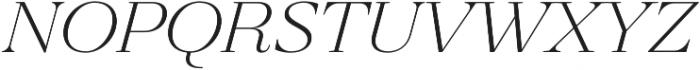 Revista Thin Italic otf (100) Font LOWERCASE