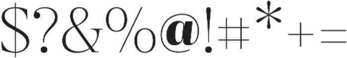 Revista Thin otf (100) Font OTHER CHARS