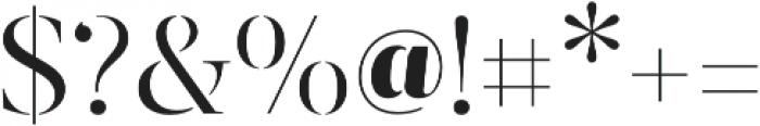 Revista otf (400) Font OTHER CHARS