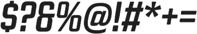 Revolution Gothic Bold It otf (700) Font OTHER CHARS