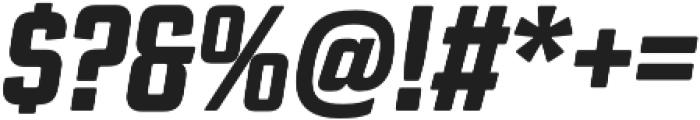 Revolution Gothic ExtraBold It otf (700) Font OTHER CHARS