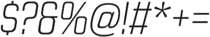 Revolution Gothic ExtraLight It otf (200) Font OTHER CHARS