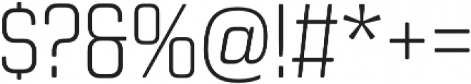 Revolution Gothic ExtraLight otf (200) Font OTHER CHARS