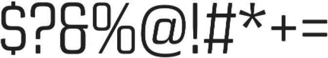 Revolution Gothic Light otf (300) Font OTHER CHARS
