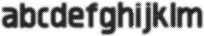 Revolution Halftone otf (400) Font LOWERCASE