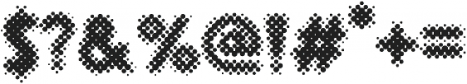Revolution Halftone otf (700) Font OTHER CHARS
