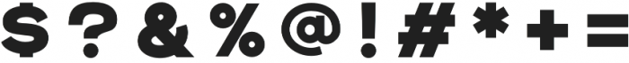 Rexton Black otf (900) Font OTHER CHARS