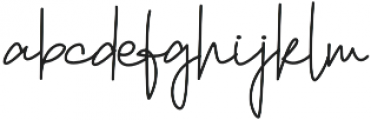 Reyonha Regular otf (400) Font LOWERCASE