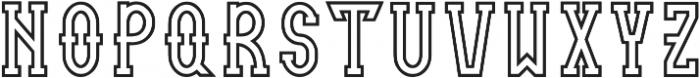 retram outline otf (400) Font LOWERCASE