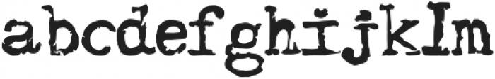 retro typewriter otf (400) Font LOWERCASE