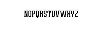 Redsniper Classic.otf Font LOWERCASE